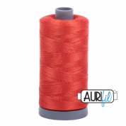 Aurifil 28 Cotton Thread - 2245 (Orangey Red)